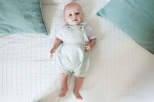 Olive Baby Boy Green Romper