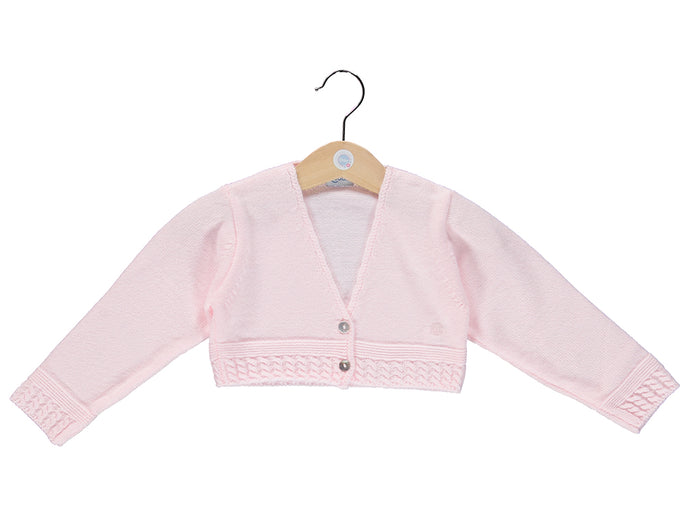 Knitted Pink Baby Cardigan