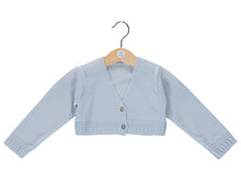 Knitted Blue Baby Cardigan