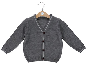 knitted Grey Cardigan