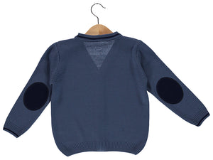 knitted Blue Cardigan