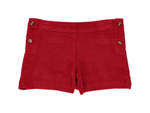 Corduroy Red Shorts