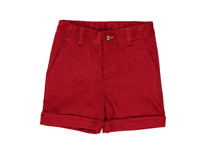 Corduroy Red Boy Shorts