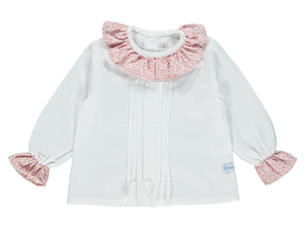 Baby Girl Flower Pink Shirt