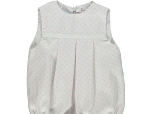 Dots Baby Pink Romper