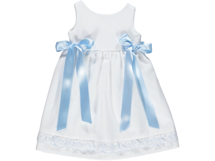 Newborn Embroidery Blue Dress