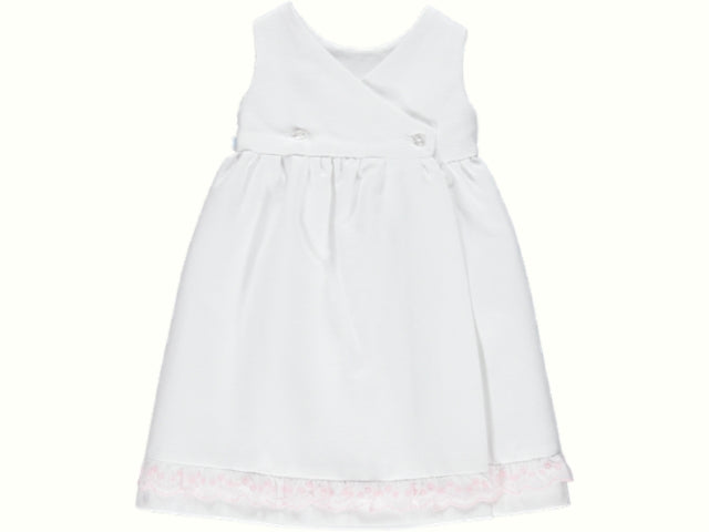 Newborn Embroidery Pink Dress