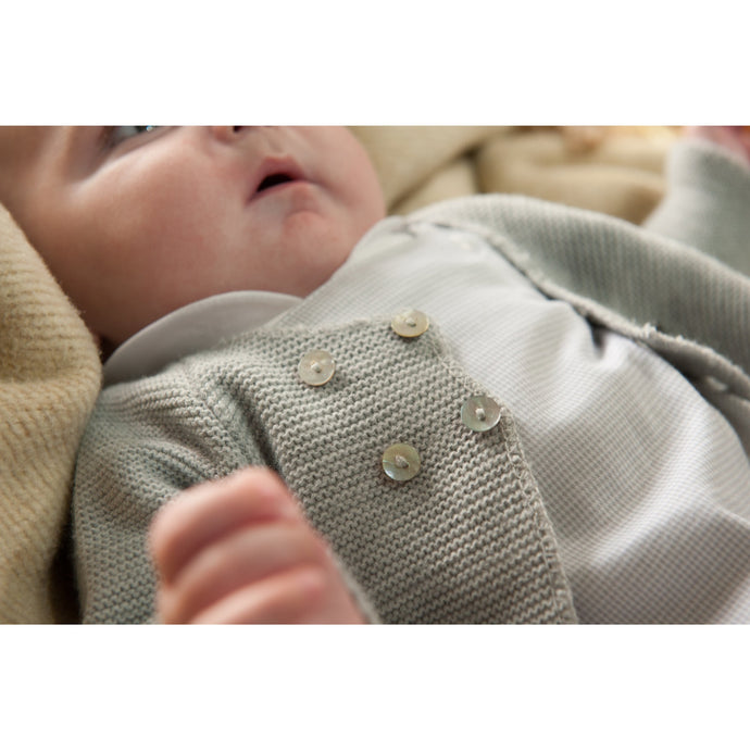 Baby Boy Grey Dungarees
