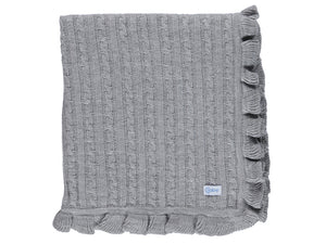 Grey Knitted  Blanket