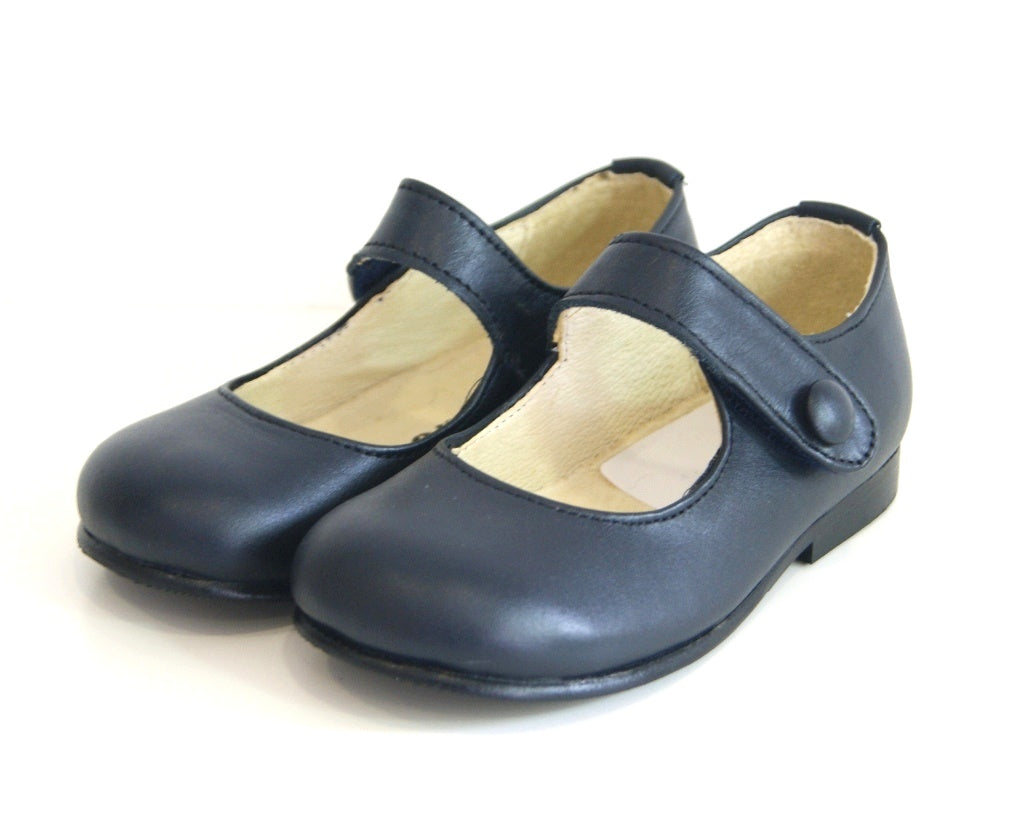 Leather Classic Blue Shoes