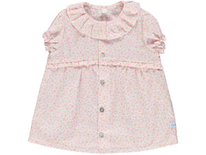 Baby Girl Flower Coral Shirt