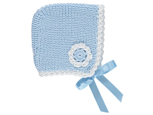 Blue Baby Flower Bonnet