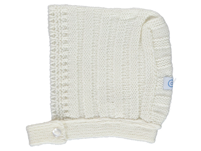 White Ribbed bonnet