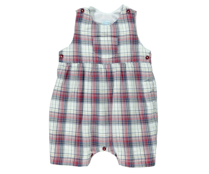 Villa Baby Boy Chess Romper