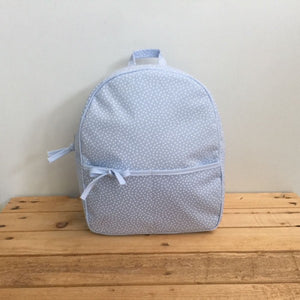 Schoolbag Blue Dots
