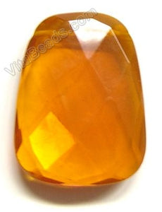 Orange Crystal  - 30x40mm Faceted Ladder Pendant