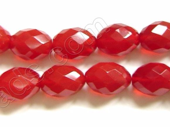Faceted Eggs - 005 Red Win. Crystal (Bright) 16""