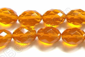 Faceted Eggs - 006 Orange Crystal  16""
