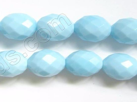 Faceted Eggs - 042 Amazonite Qtz  16""