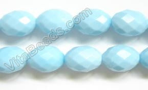 Amazonite Quartz - 15x20mm Faceted Eggs 16""