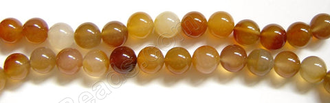 Natural Agate - Smooth Round 12 mm