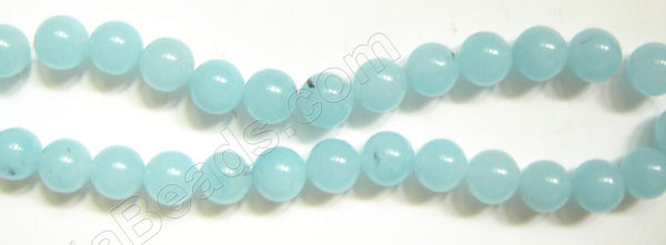 Blue Quartz  Light (with black spots)  -  14mm Smooth Round 16""