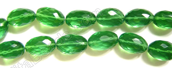 Faceted Free Form Nuggets  -  013 Spring Green Crystal  16""