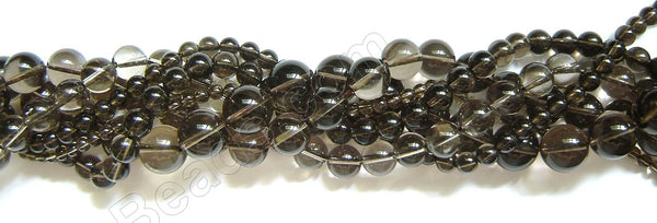 Smoky Quartz (Light)  -  Smooth Round 16""