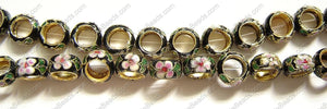 Cloisonne Beads - 15mm Tire, Donut