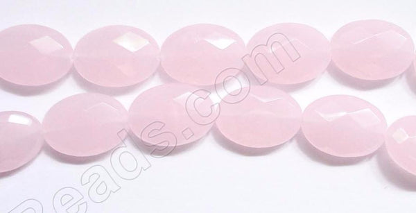 Faceted Oval  -  Pink Chalcedony  16""