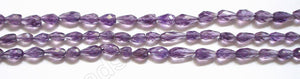 "Amethyst Light  -  Faceted Drop  16""     6-8mm"