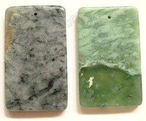 Pendant - Smooth Rectangle Fire New Jade (Light)
