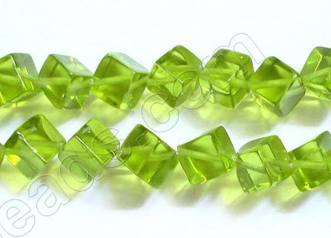 Double Edge Square  -  Peridot Green Crystal  16""