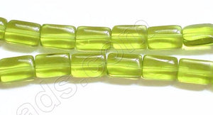 Puff Rectangle - Peridot Green Crystal  16""
