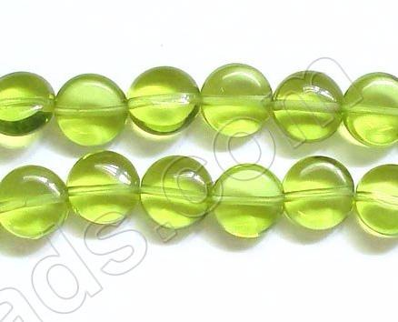 Puff Coin  -  Peridot Green Crystal  16""