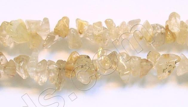 Yellow Rutilated Quartz - Chips 36""