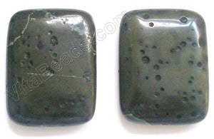 Pendant - Smooth Rectangle Russian Serpentine (Dark)