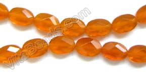 Faceted Oval  -  006 Orange Crystal   16""