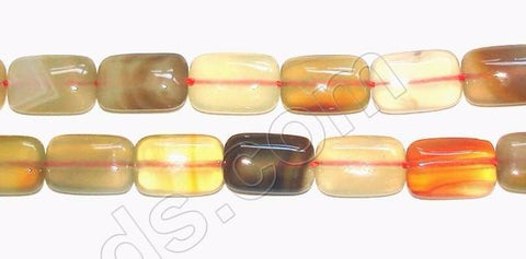 Natural Agate - Puff Rectangle 16""