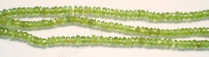 "Peridot  -  Faceted Buttons 14.5""    4mm"