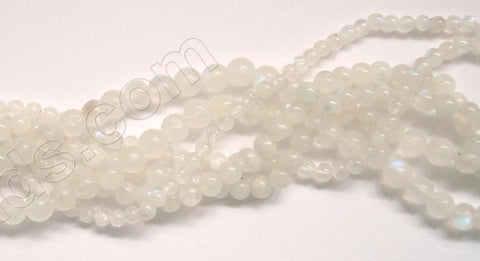 Rainbow Moonstone India A  -  Small Smooth Round  13""