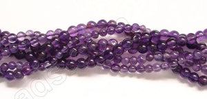 Gems Amethyst Dark  -  Small Smooth Round 14""