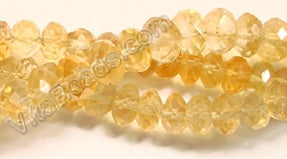 Citrine  -  Faceted Button 14""