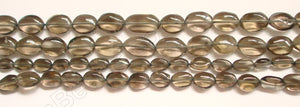 Smoky Topaz (Light)  -  8-12mm Flat Oval  14""