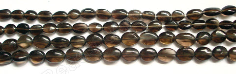 Smoky Topaz Dark AAA  -  Flat Oval  13.5""