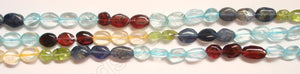 Multicolor Gems (5 Colors)  -  6-10mm Flat Oval 13.5""
