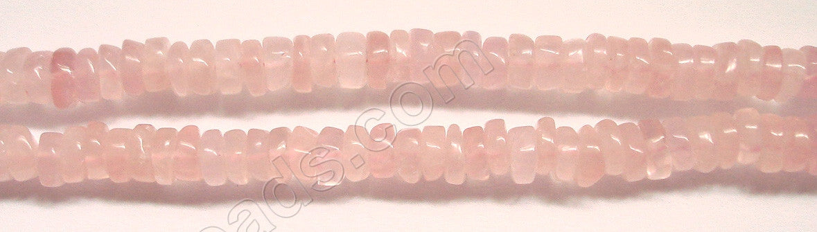 "Rose Quartz  -  Heishi  14""    7-8mm"