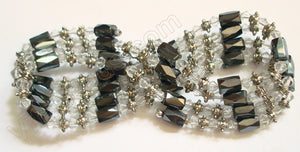 Magnetic Hematite Necklaces - Clear Crystal