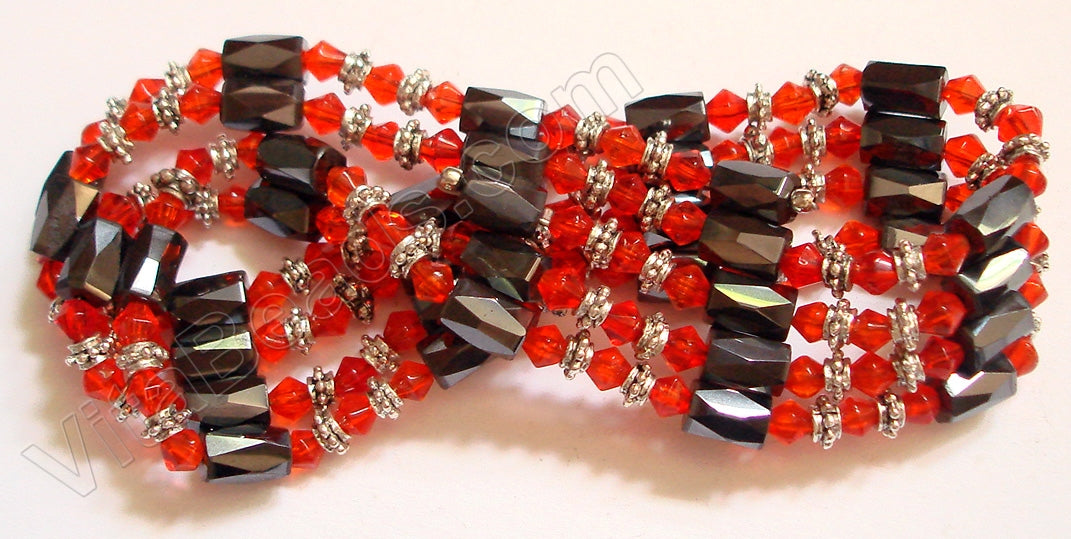 Magnetic Hematite Necklaces - Crystal - Red