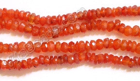Gems Carnelian  -  Faceted Button 14.5""